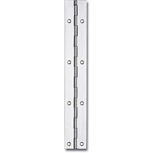 Gedotec Klavierband zum Montieren Tür-Scharnier gerollt Türband zum Schrauben | 20 x 1200 mm | Stahl vernickelt | 1 Stück