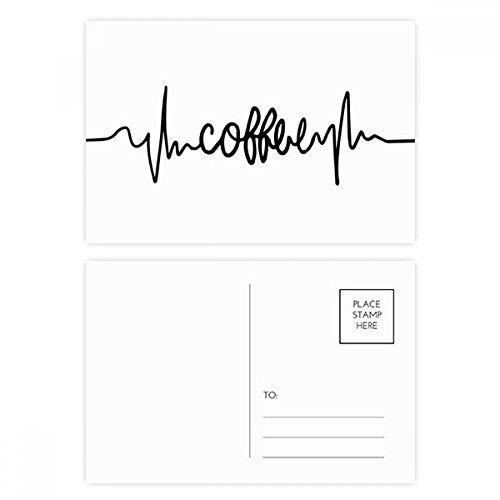 DIYthinker Kaffee-Zitat Postkarten-Set Geburtstag dankt Karte Mailing Side 20pcs 5.7 Zoll x 3.8 Zoll Mehrfarbig