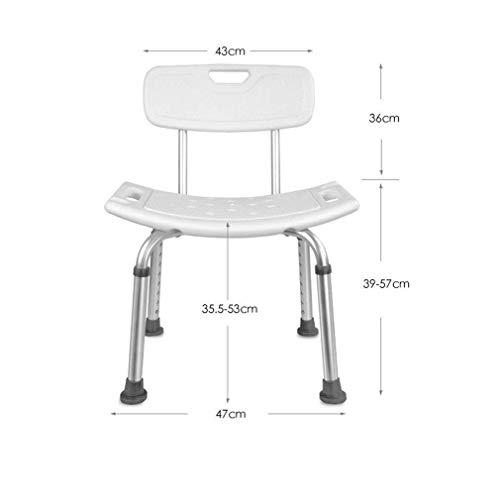 Wangwen Hocker White Seat Ergonomic Aid, Badbank rutschfest Leichte Möbel
