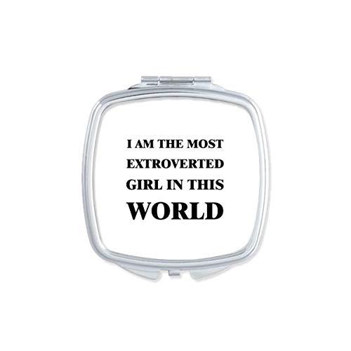 DIYthinker Je suis Le Maquillage Compact Fille extravertie Miroir carré Portable Mignon de Cadeau Miroirs de Poche à la Main Multicolor