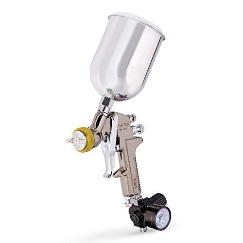 Neiko 31215a hvlp gravity feed air spray paint gun | 1. 7 mm nozzle size | 600 cc | air gauge regulator