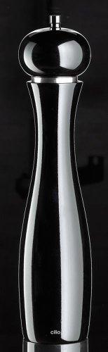Cilio 0000603699 Salzmühle Verona lackiert, Keramik, schwarz, 7.8 x 10 x 32.2 cm
