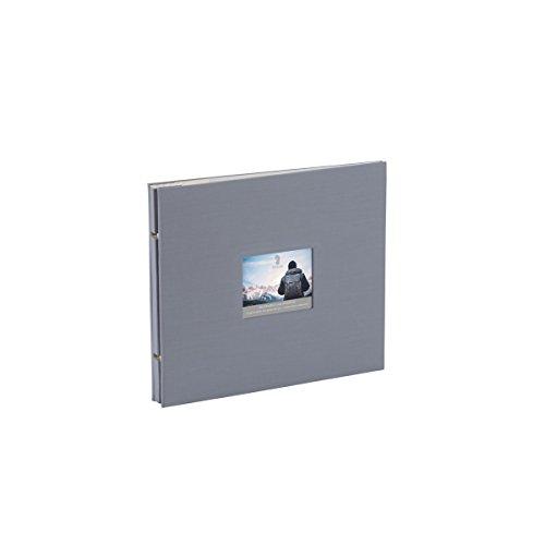 Rössler 12297145004 - Memories Buchschraubenalbum mit Gelenk, 280 x 240 mm, Grau, 15 Blatt, 1 Stück