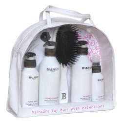 Balmain Beauty Bag best. aus: Shampoo, Cond., Mask,Spray,Bürste