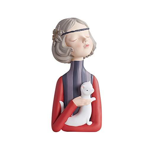 Jishu Bubble Girl Modern Sweet Figurines Resina Arte Boda Cumpleaños Decoración del Hogar Decoración de Cuento de Hadas Accesorios Regalo Decoración de Escritorio