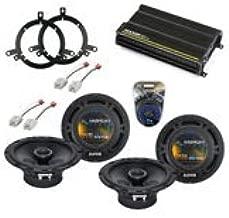 Compatible with Dodge Dakota 2002-2004 Factory Speaker Upgrade Harmony (2) R65 & CXA300.4 Amp (Renewed)