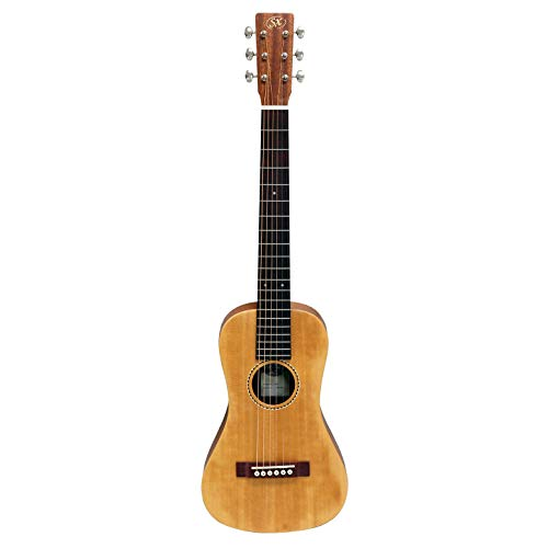 SX Trav 1 - Guitarra de viaje portátil con bolsa