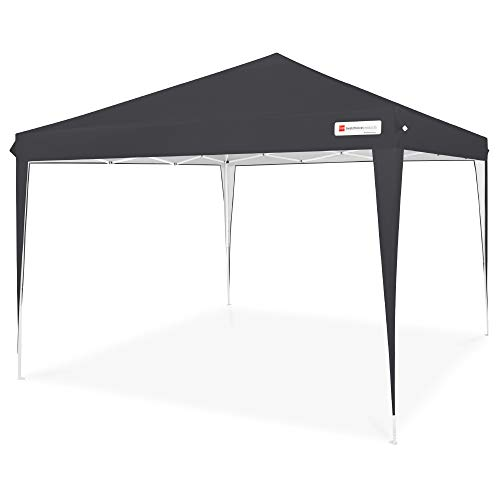 Best Choice Products Outdoor Portable Lightweight Folding Instant Pop Up Gazebo Canopy Shade Tent w/Adjustable Height, Wind Vent, Carrying Bag, 10x10ft - Black