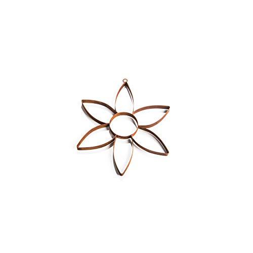 Ecosoul tuindecoratie muur decoratie bloem Pasen metaal roest decoratie diameter 30 cm om op te hangen