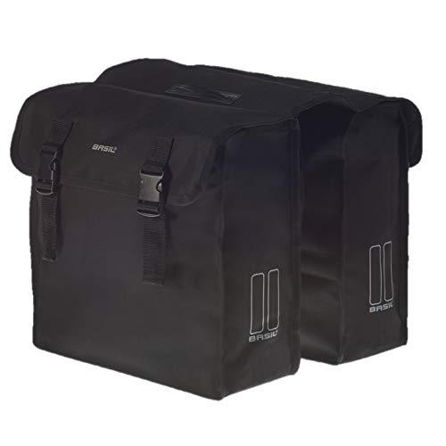 Basil dubbele tas Mara XL fietstas, zwart, 36 cm x 14 cm x 43 cm