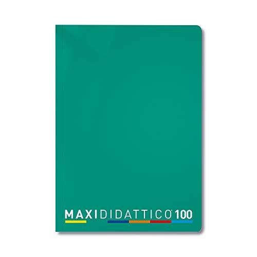 5 Quaderni Maxi Didattico, Verde, 1 RIGO, 5 Pezzi