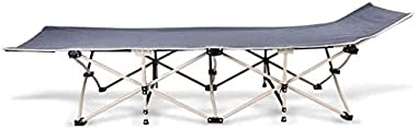 Folding camping cot,Adult folding camping Folding Bed Folding Camping Bed Sun Lounger Cot Portable Guest Fabric Strong Stable