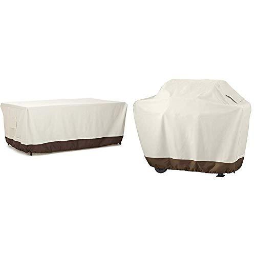 Amazon Basics Housse de Protection pour Table 180 cm & Housse de Protection pour Barbecue Taille M