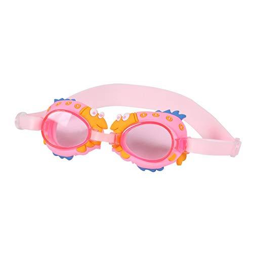 MHP zwembril kinderen waterdicht anti-condens HD jongens en meisjes vlakke zwembrillen, roze