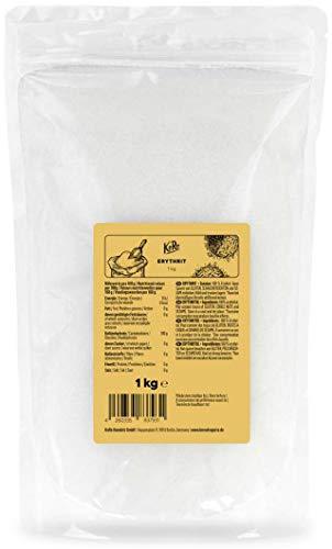 KoRo - Eritritolo 1 kg - dolcificante naturale per alimenti zero calorie, alternativa allo zucchero, per dolci e bevande, the e caffè, senza glutine, vegan