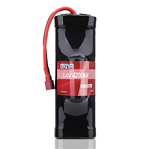 AWANFI 8.4V NiMH Battery 4200mAh 7-Cell Hump Pack RC Battery with Deans Plug for Most 1/10 Scale RC Car Truck Boat Traxxas LOSI Associated HPI Kyosho Tamiya Battery