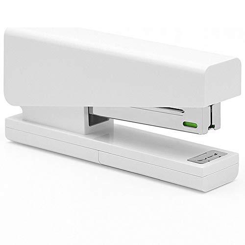 Stapler, Desktop Stapler, Classic Office Stapler, 20 Sheets Capacity White Stapler Set with Storage Free 100 pcs Staples