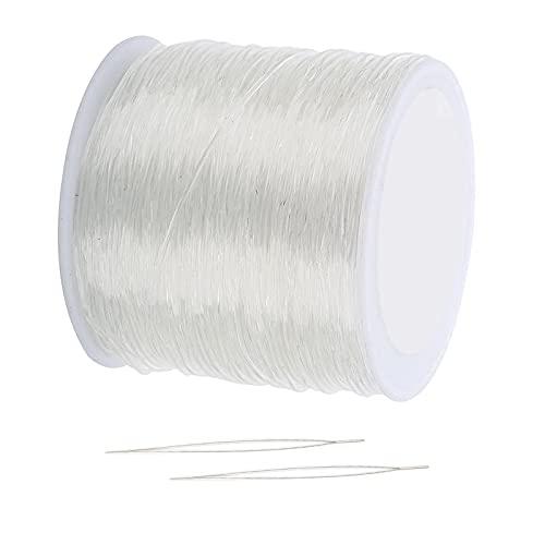 Sharplace Joyería de Cuerda para Pulsera con Cuentas de Cordón Elástico - 0,8 mm 100 m