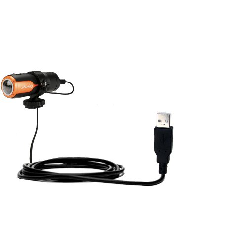 Gomadic USB Data Hot Sync Straight Cable Designed for The Mio MiVue M350 with Charge Function – Two Functions in one Unique TipExchange Enabled Cable