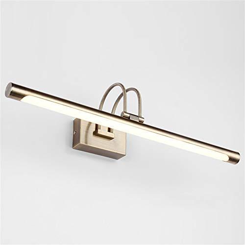 XFXDBT Bilderleuchte Led 9w Wasserdicht,180° Drehbar Schminklicht Badleuchte Wandleuchte Schlafzimmer Badezimmer-warmweiß 42cm-9w
