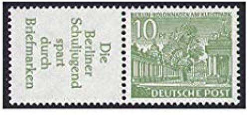 Goldhahn Berlin Zusammendruck W23 postfrisch  Bauten 1952 (R3+10) Briefmarken für Sammler