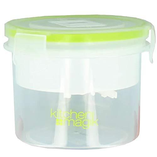 True Face Pot de rangement alimentaire avec couvercle rond ventilé transparent 0,5 l