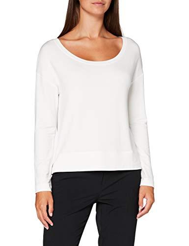 Marc O'Polo Damen 006304052229 Sweatshirt, Weiß (Oyster White 121), Large (Herstellergröße: L)