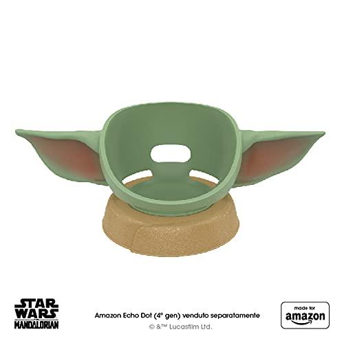 Nuovo supporto per Amazon Echo Dot (4ª gen.) ispirato a Star Wars The Mandalorian Baby Grogu, Made for Amazon