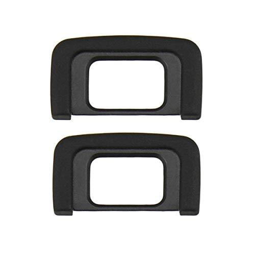 HomyWord / LXH 2 PACK DK-25 Schwarz Augenmuschel Okular / Augenmuschel / Sucher Für Nikon D5600, D5500, D5400, D5300, D5200, D5100, D5000, D3400, D3300, D3200, D3100, D3000, Ersetzt Nikon DK-25 Okular