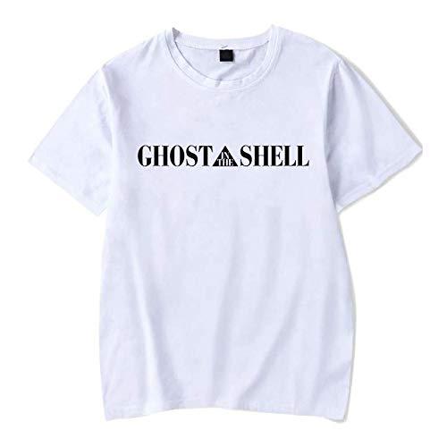 Camiseta Básica Unissex Algodão Ghost in the Shell Anime (Rosa Bebê, M)