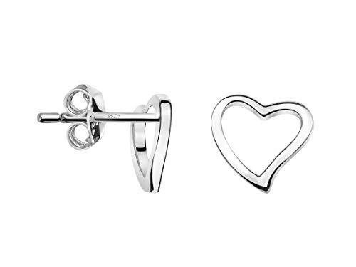 SOFIA MILANI - Damen Ohrringe 925 Silber - Herz Ohrstecker - 20484
