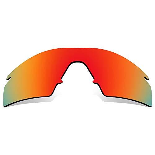 SEEK Ersatzgläser Kompatibel mit OAKLEY M Frame Strike Polarisiert Rot Spiegel
