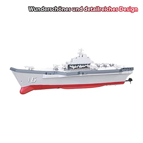 RC ferngesteuertes Mini Kriegsschiff, Flugzeugträger, Schlachtschiff, Schiff, Boot, Komplett-Set inkl. integr. Akku, Fernsteuerung,