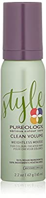 Pureology | Clean Volume Weightless Mousse | All-day Root Lift | For Fine, Color Treated Hair | Vegan