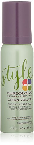 Pureology | Clean Volume Weightless Mousse | All-day Root Lift | For Fine, Color Treated Hair | Vegan | 2.2 oz.