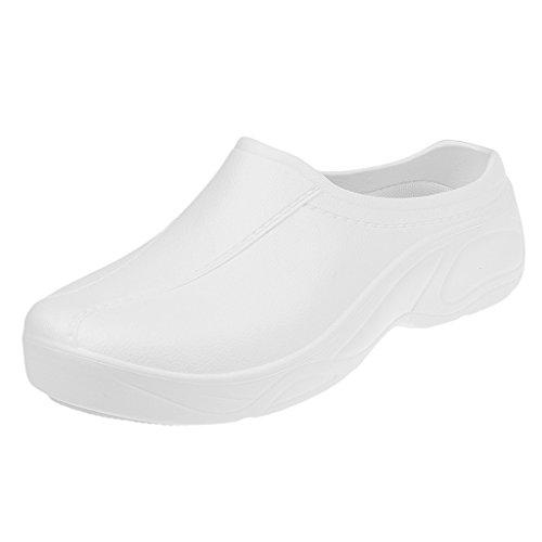Gazechimp Zapatos de Enfermería Médico de Cocinero de Mujeres Hombres Plástico Sin Agujero Resistente al Agua