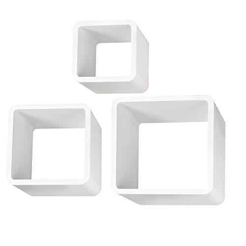 Ezigoo Repisas de Pared en Forma de Cubo – Juego de 3 Estanterías Flotantes en...