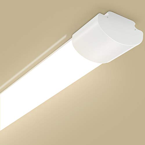 Oeegoo LED Feuchtraumleuchte 150cm, IP66 LED Deckenleuchte 50W 5500LM(110Lm/W) Flimmerfreie Deckenlampe, Wasserdichte Wannenleuchte, LED Leuchte für Garage Lager Werkstatt Garten 4000K
