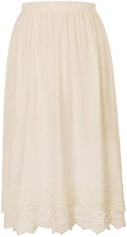 Classy Lace Tops Extender Underskirts L Beige product image