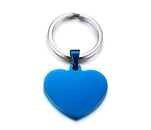 VNOX Personalizado Corazón de Acero Inoxidable Amor Llavero Llavero Llavero para Niña Mujer,Mamá Hija Regalo GF