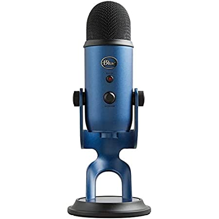 Blue Yeti USB Microphone for Recording, Streaming, Gaming, Podcasting on PC and Mac, Condenser Mic for Laptop or Computer with Blue VO!CE Effects, Adjustable Stand, Plug and Play – Midnight Blue