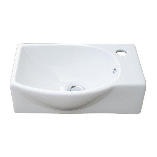 洗面ボウル 陶器 オンカウンター 壁掛けタイプ 幅40cm INK-0405061H