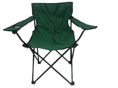 ASAB Green Folding Camping Chair Garden Fishing Outdoor Seat with Carry Bag, Canvas, Height Width 80 cm x Depth 50 cm