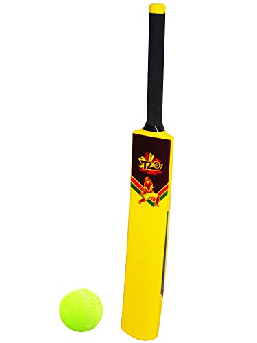 Planet of Toys Plastic Cricket Bat for Kids, Boys | Bat Ball Set for Kids (Yellow)