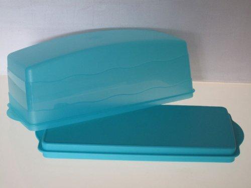 TUPPERWARE Junge Welle Kastenkuchenbehälter türkis Kuchenform J29 Kastenkuchen