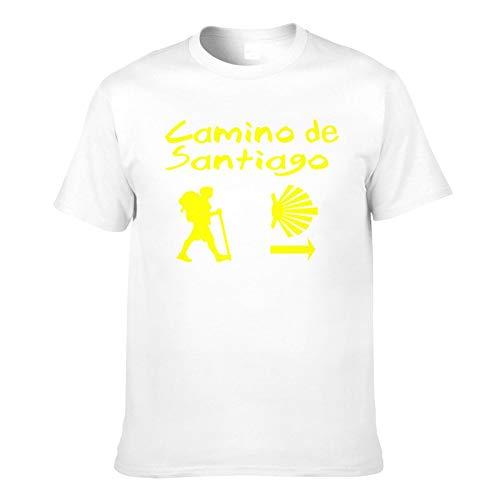 Camiseta de Hombre Camino De Santiago Compostela-Printed Trendy Camisetas de Manga Corta Camisetas de Hombre Top Tamaño asiático