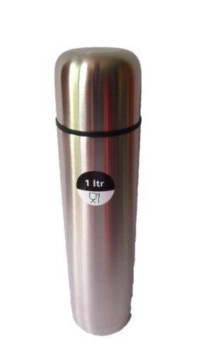Edelstahl Isolierflasche doppelwandig 1 Liter Thermosflasche Thermoskanne Isolierkanne Thermoflasche mit Druckknopf System von James Premium®