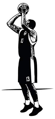dekodino® Wandtattoo Basketball Basketballspieler schwarzweiß Jugendzimmer Deko