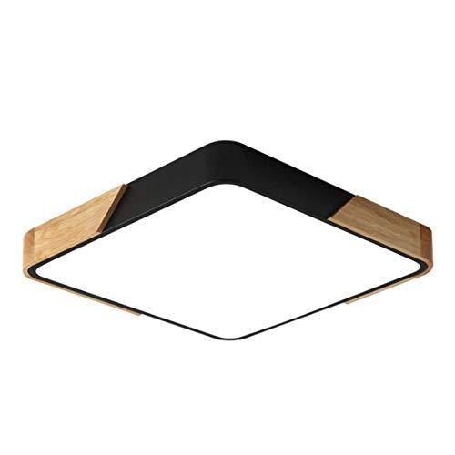Deckenlampe Ohne Bohren Kabelkanalverlängerung Deckenlampe Deckenlampe Dachschräge Smart Deckenlampe Wohnzimmer-Schwarz 40 × 40, 36 Watt_Weißes Licht