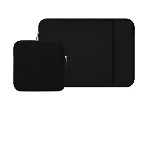 Laptop Sleeve 11 12 13 14 15 15.6 inch ntebook case Soft Bag for acbook Air Pro Retina Tablet Pocket-Black-P_Set_for Macbook16 Pro